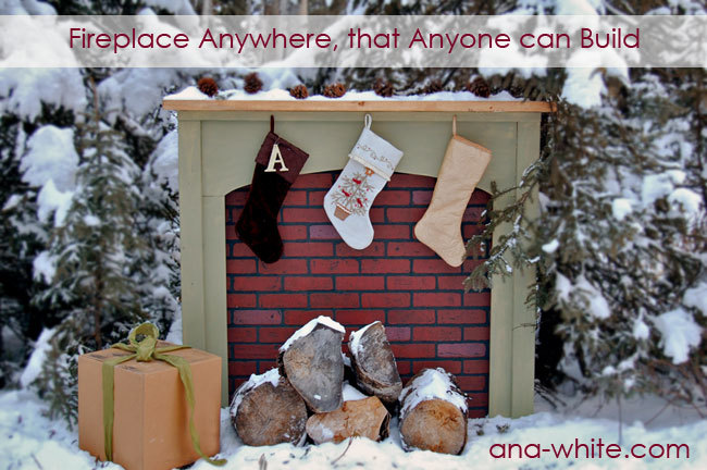 Ana White | Fireplace, Anywhere - DIY Projects