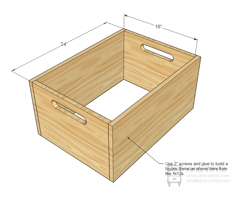 Easy Toy Box Plans, Easy, Free Engine Image For User ...