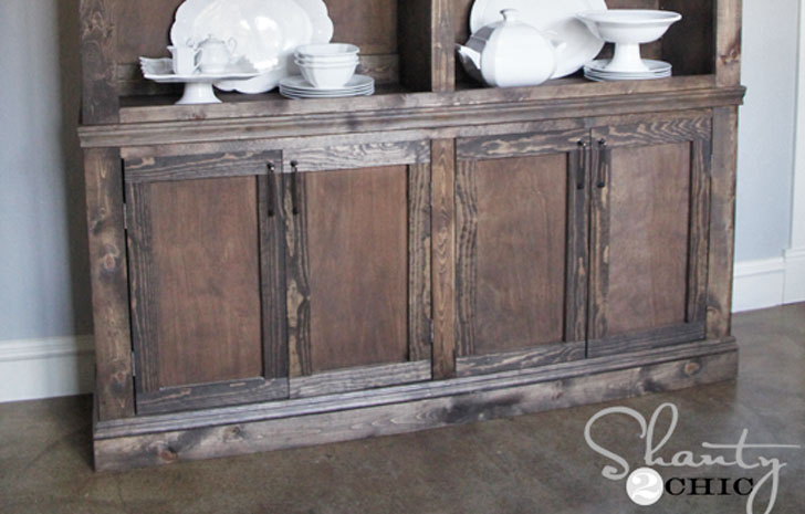 build your own dining room sideboard farmhouse style