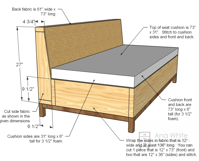 Ana White Storage Sofa DIY Projects : build your own couch diy 231 from www.ana-white.com size 676 x 547 jpeg 177kB