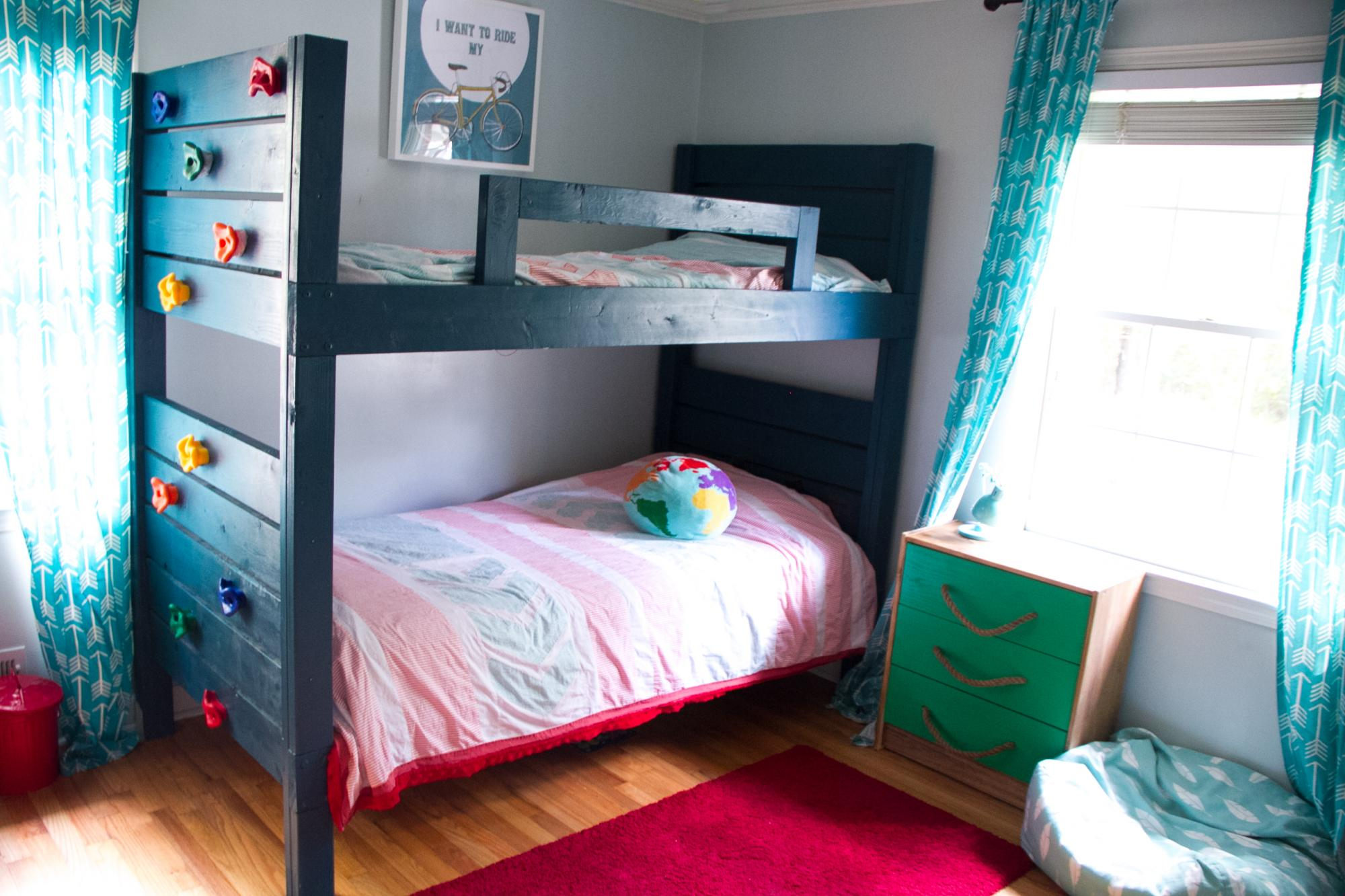 Picture of: Bunk Beds With Climbing Wall Ana White