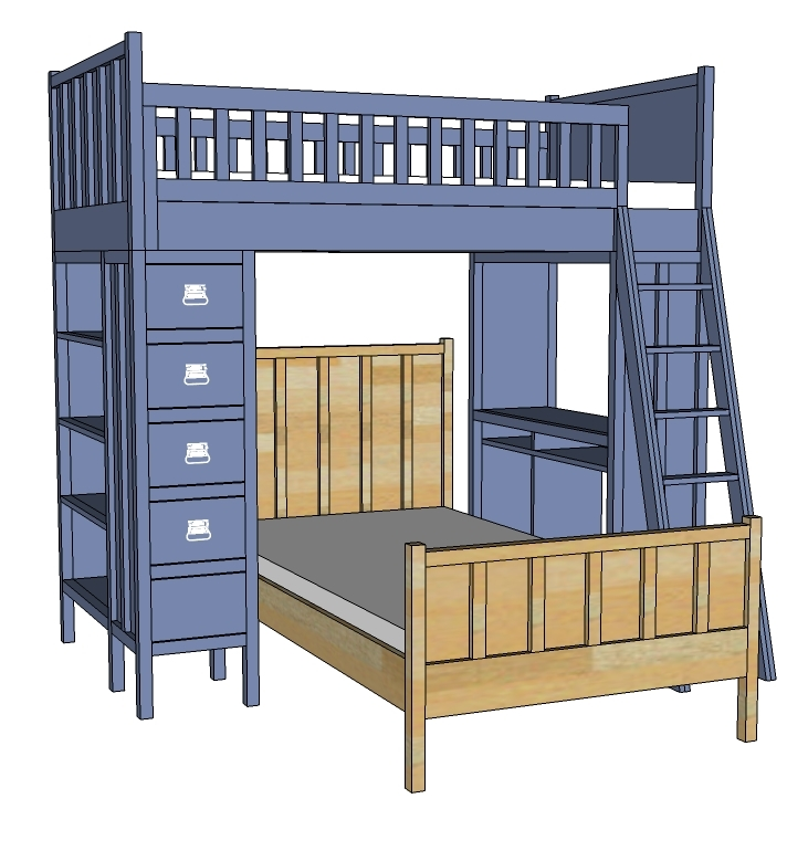 wooden build a cabin bed plans pdf plans