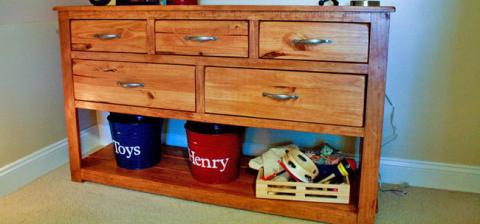 Dresser With Open Bottom Shelf