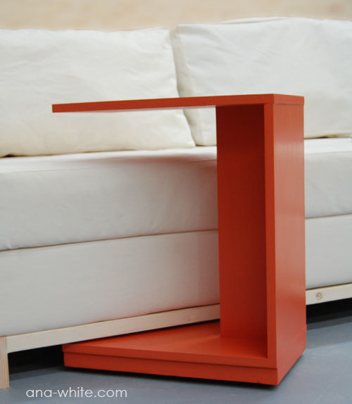 Rolling C End Table Or Sofa Table Ana White