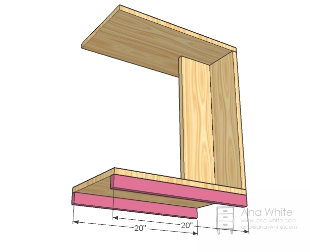 Now Measure At The Top, Middle, And Bottom As Shown In The Diagram And  Mark. Position 1×6 And Screw Through Predrilled Holes To Secure In Place.  Use Glue