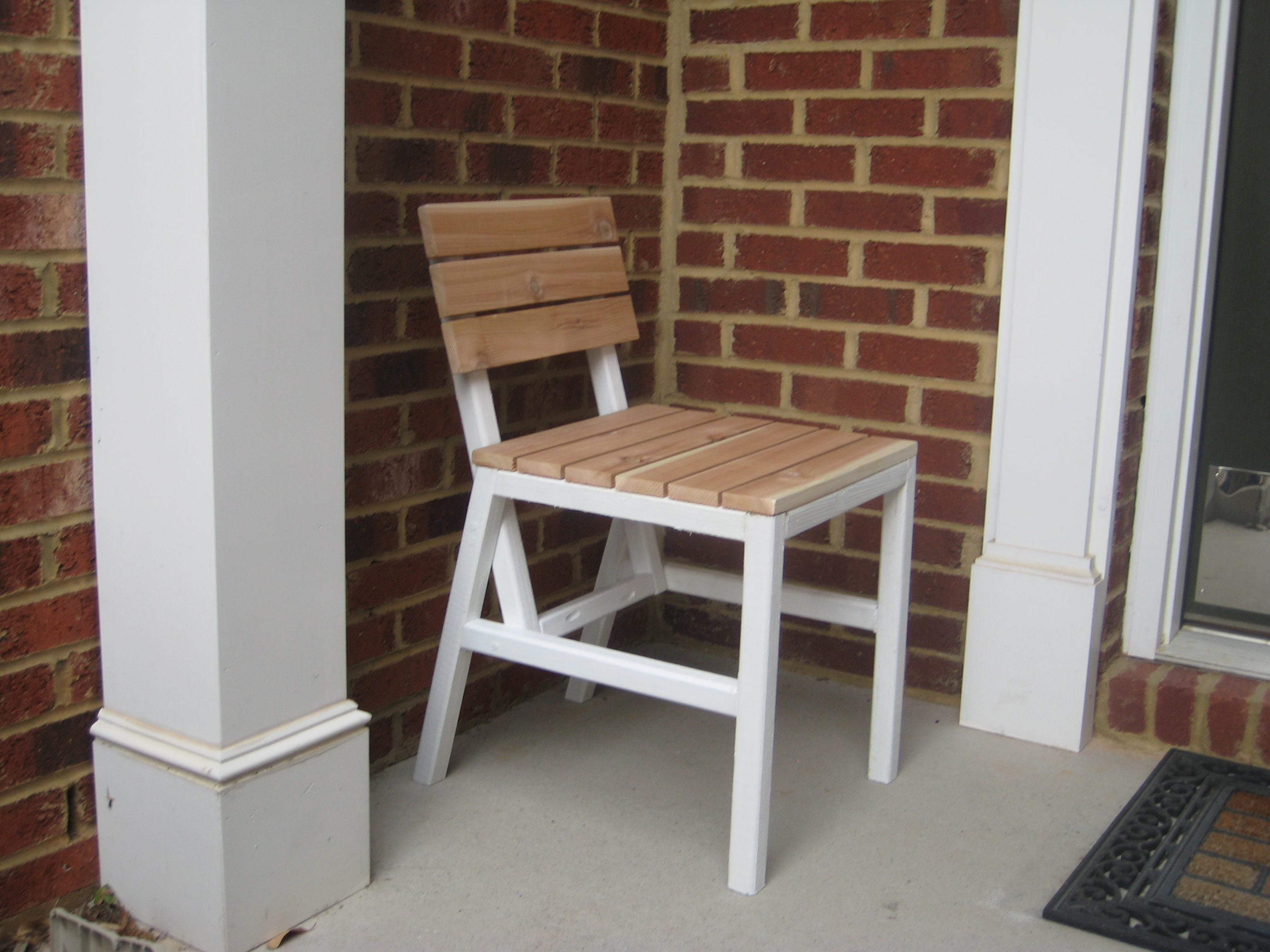 Ana White Harriet Outdoor Dining Chair With Cedar Slats