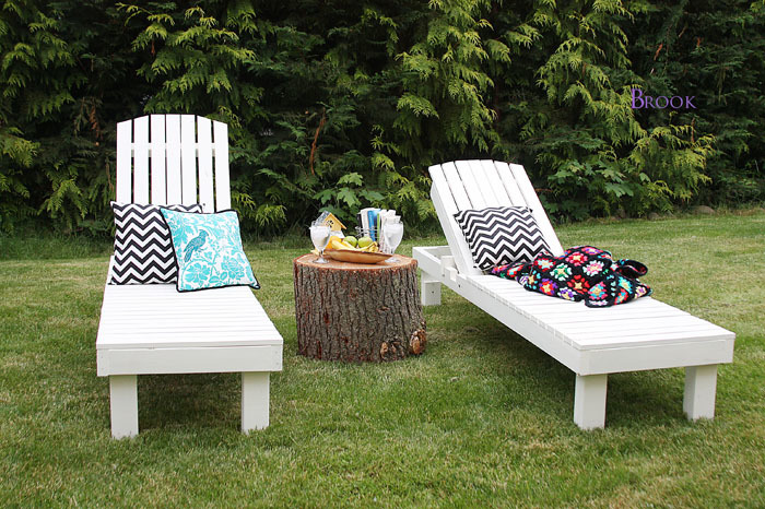 Painting white outdoor adirondack projects ana white for Adirondack chaise lounge plans