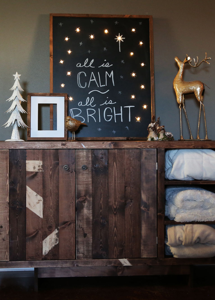 Lighted Holiday Chalkboard Sign Quot All Is Calm All Is