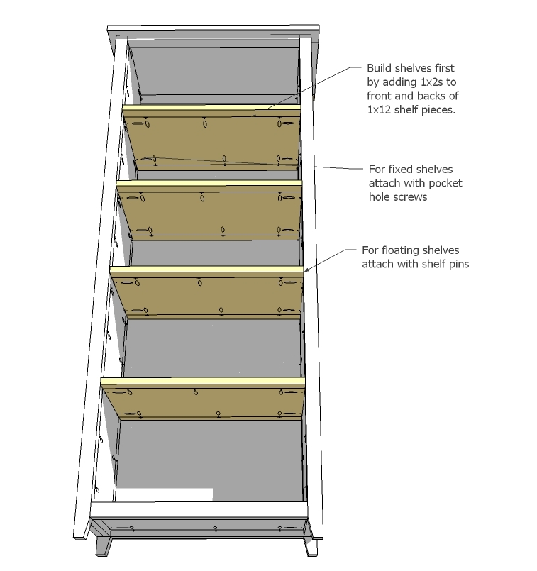 ana white channing bookcase diy projects