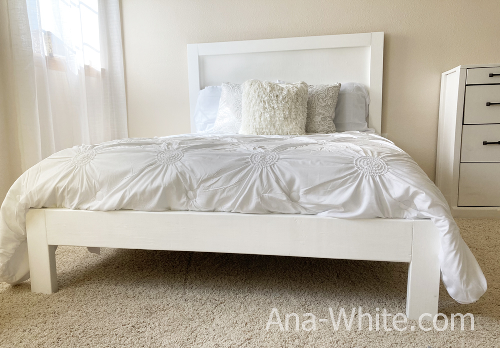 Super Simple Bed Frame Queen Full And, Queen Bed Frame Easy To Move