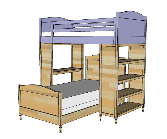 Clip On Bookshelf For Bunk Bed Simple Home Decoration