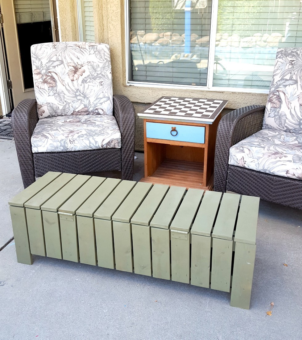 Ana White Outdoor Storage Bench Coffee Table Diy Projects
