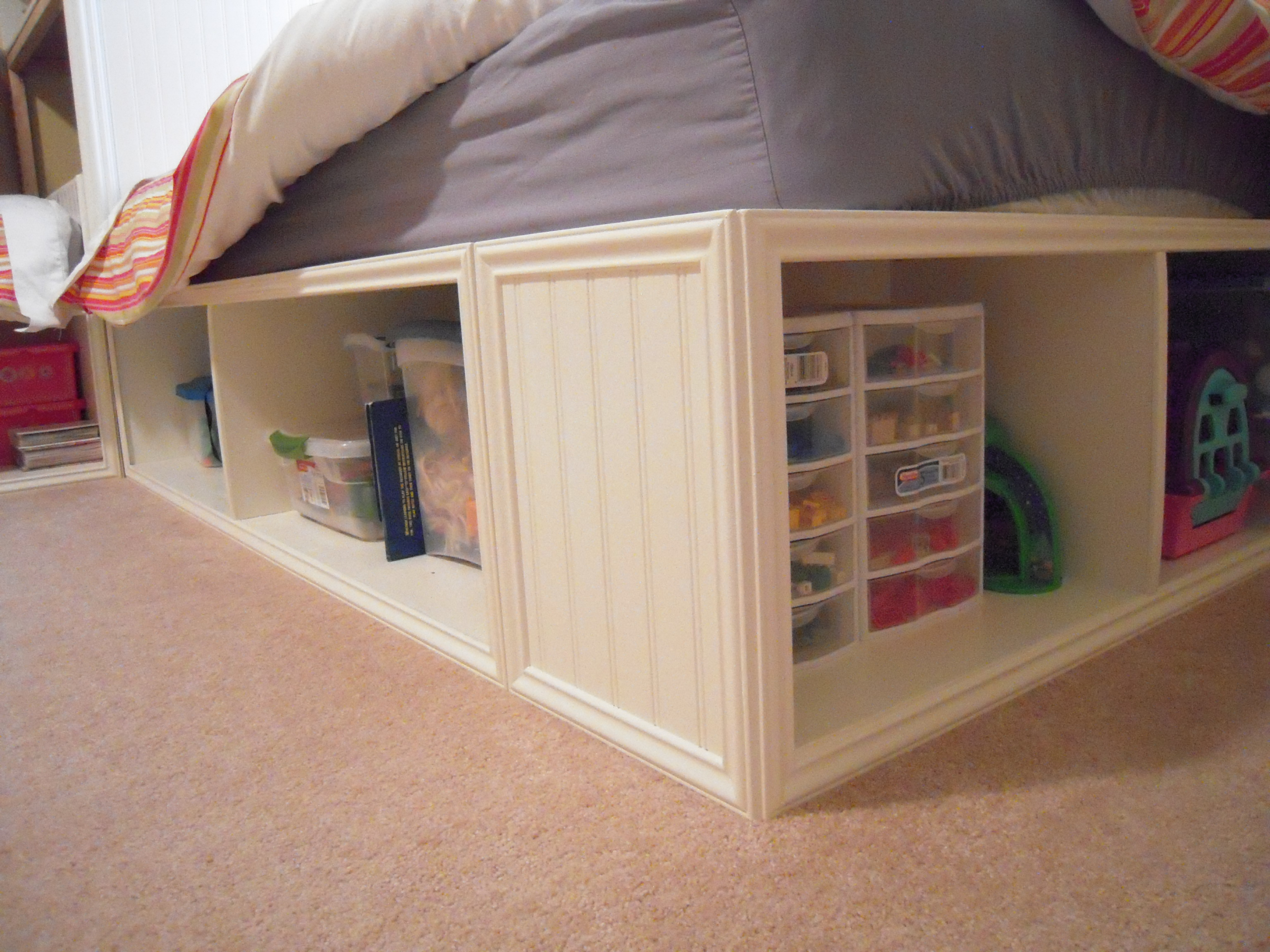 Twin Storage Beds And Modified Corner Unit (secret Storage)