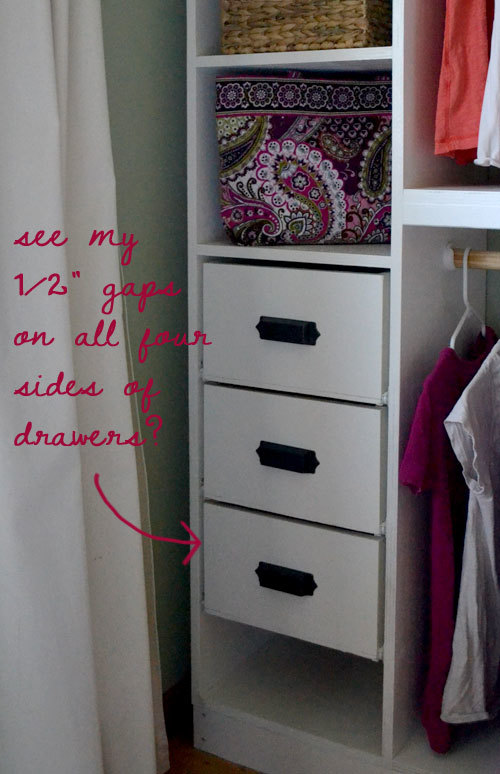 Master Closet System Drawers