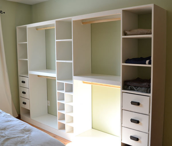 White drawers for a closet roselawnlutheran for How to build a walk in closet step by step