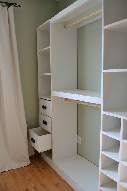 ana white master closet system diy projects