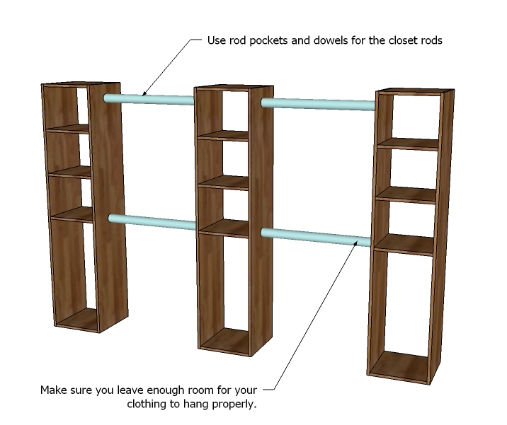 You Can Make The Top Shelves Adjustable With Shelf Pins, But It Is  Important That The Middle Shelf Be Fixed, As Something Needs To Keep The  Tower Square In ...