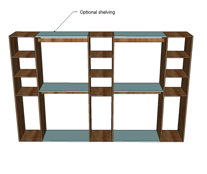 2X4 Storage Shelves http://ana-white.com/2011/04/master-closet-system
