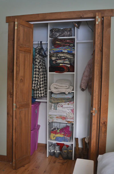 ... Sharing A Four Foot Wide Closet With The Ram, Tucked Behind The Bedroom  Door, With A $200 Closet Organizer. This Closet To Be Specific.