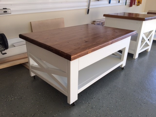 Rustic Lift Top Coffee Table With Storage Ana White
