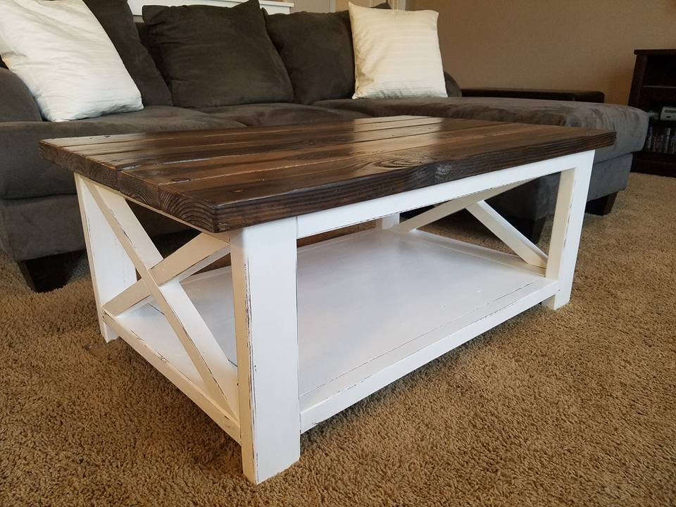rustic white coffee table Ana White | Rustic X Coffee Table   DIY Projects rustic white coffee table