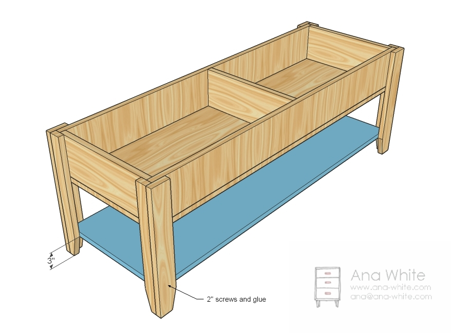 Woodworking build coffee table Homemade coffee table plans