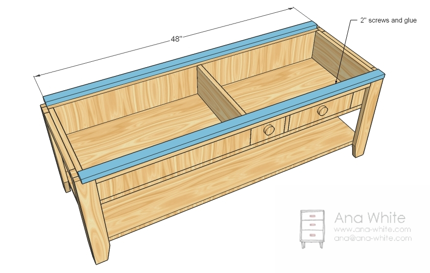 plans for building a wooden coffee table