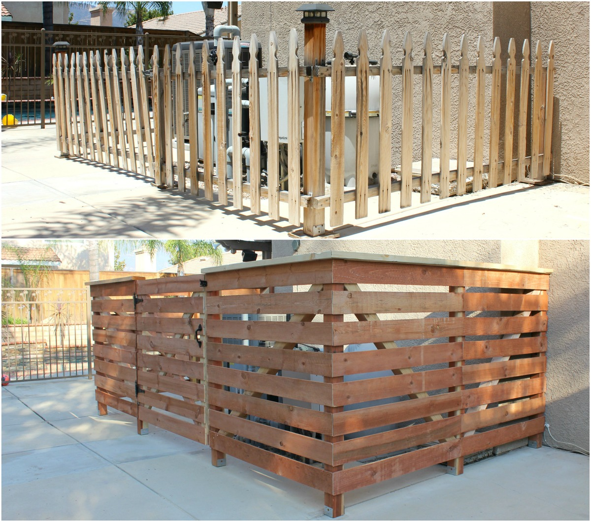 Ana White Pool Equipment Fence Refresh Diy Projects