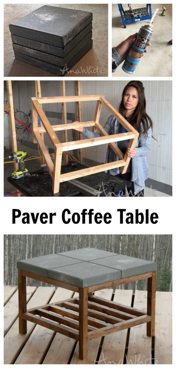 ana white concrete paver outdoor coffee table diy projects