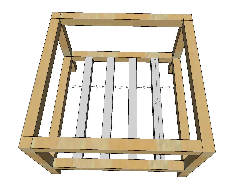 Ideal Attach longer xs to the leg sets to create the frame of the coffee table using pocket holes
