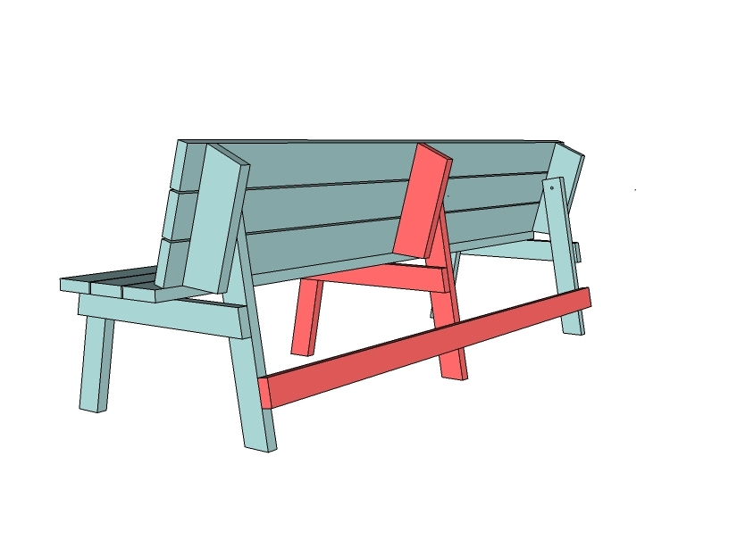 Picnic Table that Converts to Benches
