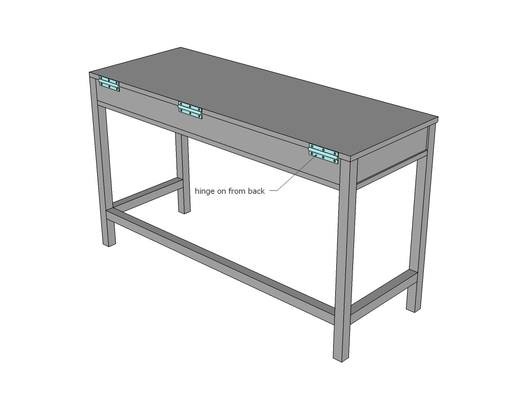 Ana White | Flip Up Desks that Convert to Table for our Tiny House ...
