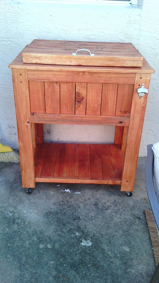 Ana White Wooden Patio Cooler By Diy Pete Diy Projects