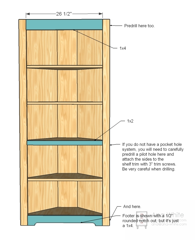 free corner shelf woodworking plans | Quick Woodworking ...