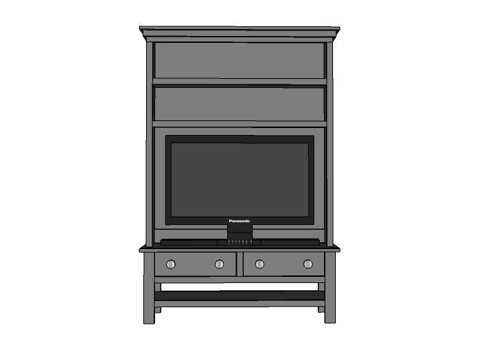 cambridge picture furniture living style media console entertainment room hutch of mission haynes