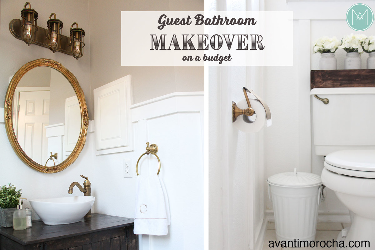 Ana white diy guest bathroom makeover on a budget diy for Guest bathroom makeover