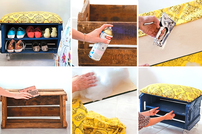 wood crate furniture diy. tutorial fruit crate shoe bench by handimania 5 diy furniture wood diy c
