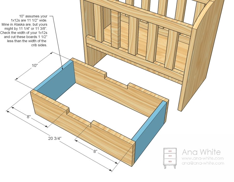 Building a baby crib plans free download pdf woodworking build a baby cot plans - Baby crib for small spaces plan ...