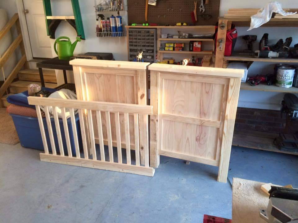 white rustic baby crib diy projects
