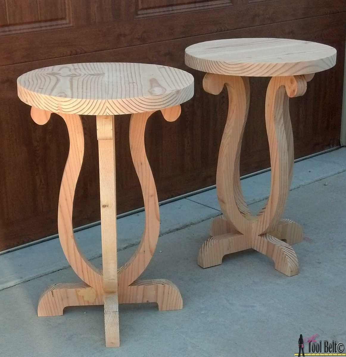 "27"" curvy side tables"