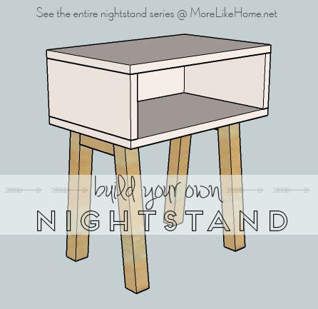 Ana white simple modern nightstand diy projects for Simple nightstand designs