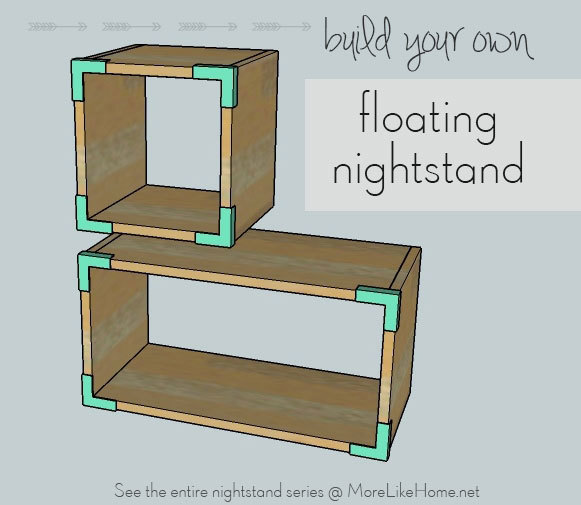 ana white | floating boxes nightstand - diy projects Floating Nightstand Ideas