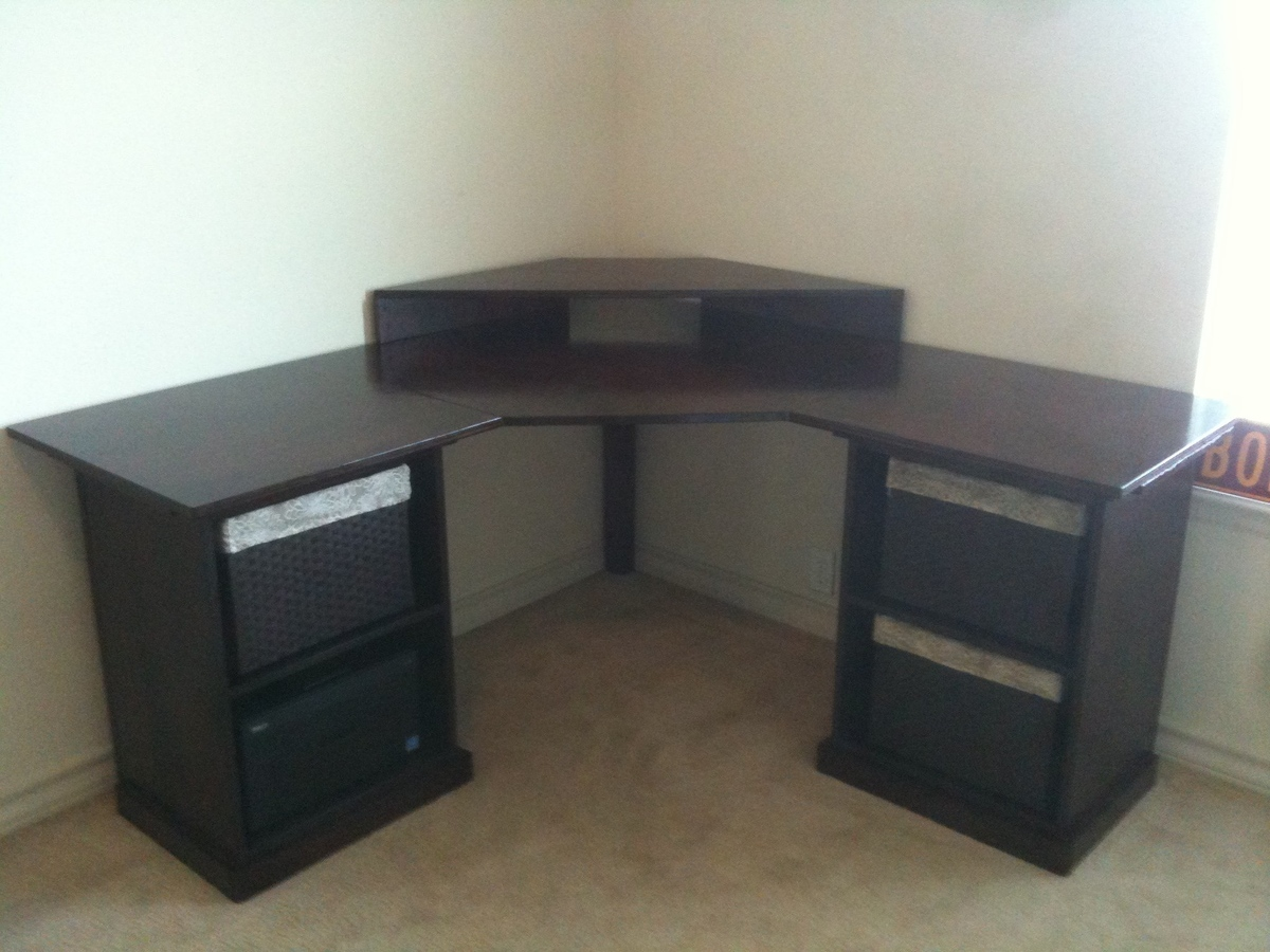 ana white corner desk diy projects. Black Bedroom Furniture Sets. Home Design Ideas