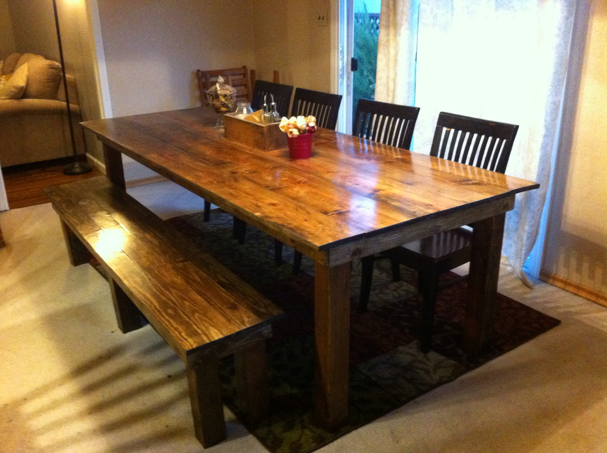 Ana White Dining Table And Bench Diy Projects