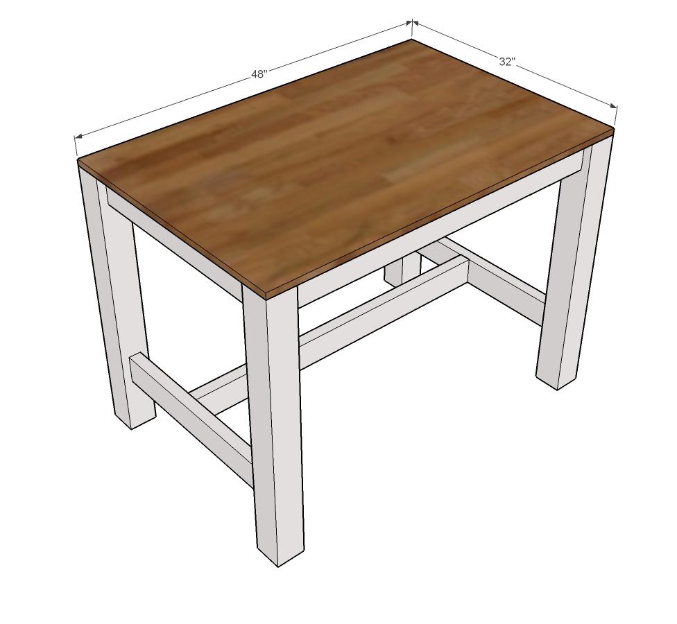Counter Height Farmhouse Table For Four Ana White