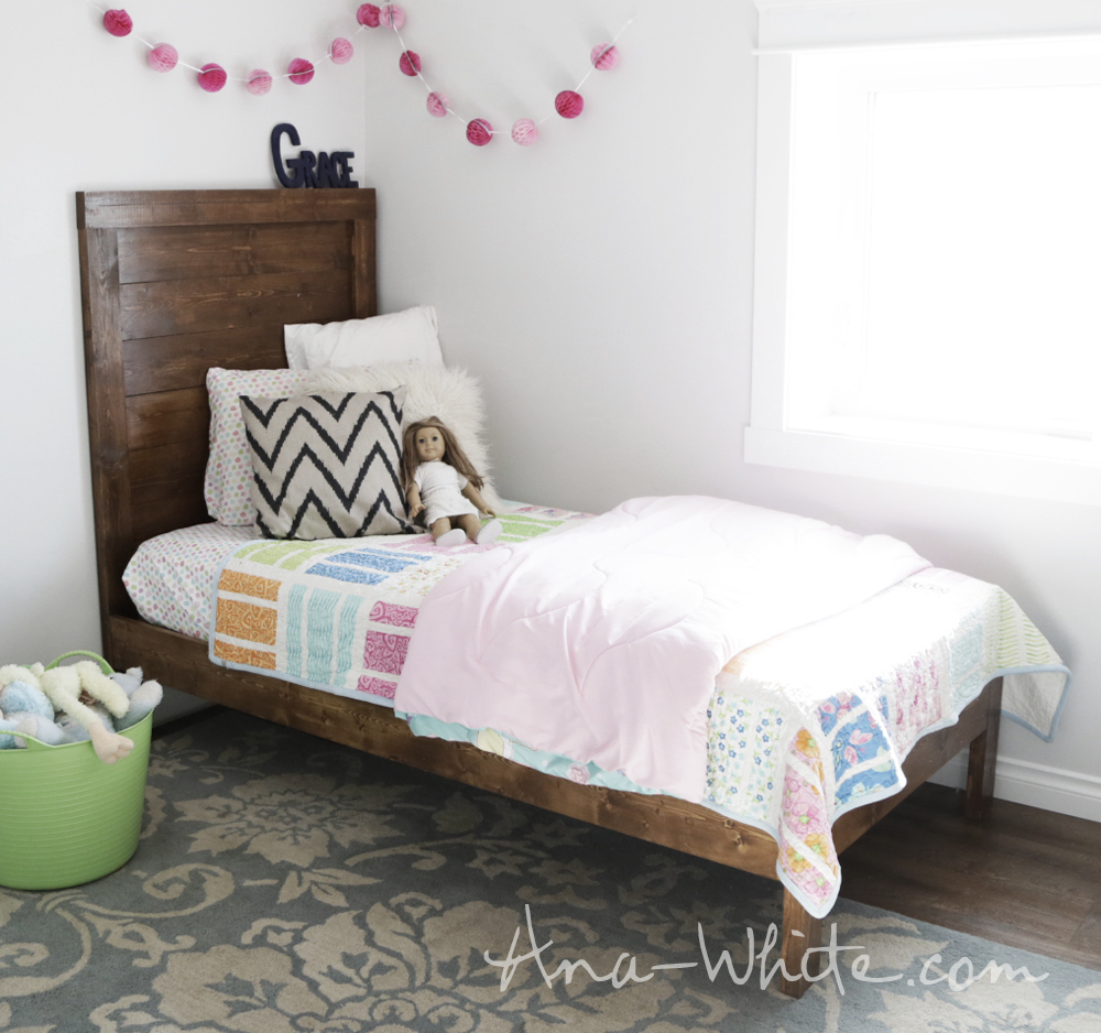 Ana White | Simple Planked Wood Bed - DIY Projects