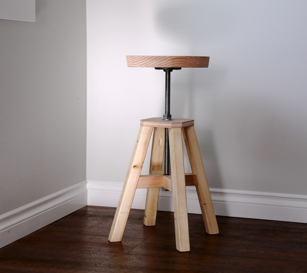 Adjustable Height Wood and Metal Stool & Ana White | Adjustable Height Wood and Metal Stool - DIY Projects islam-shia.org