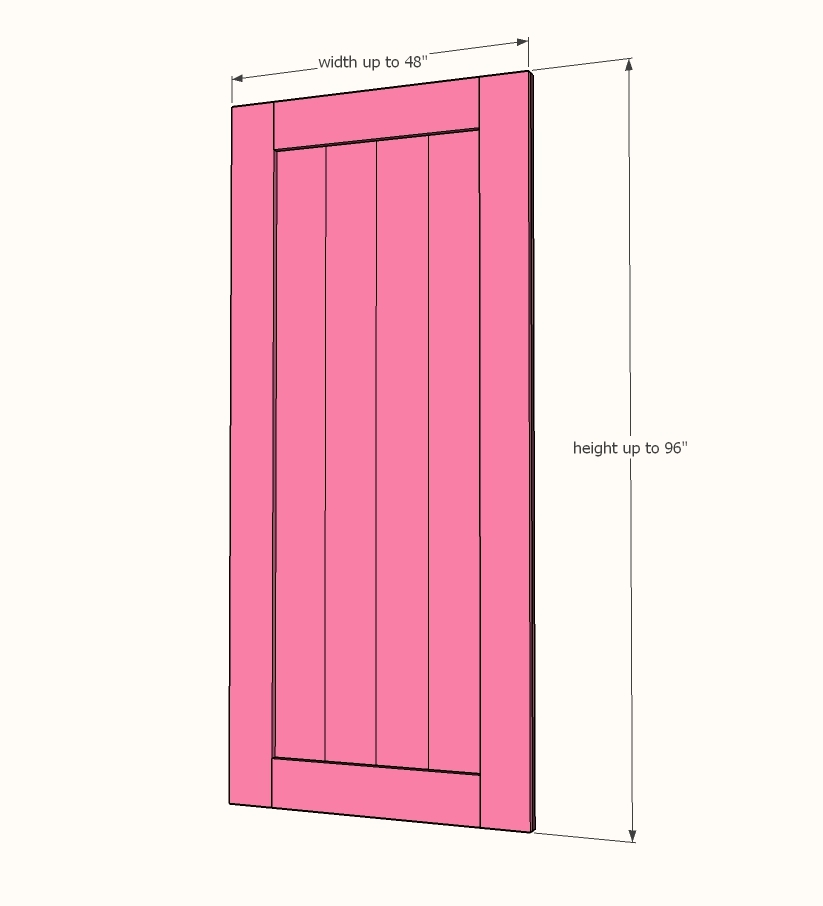 Height Wise I Make My Barn Doors The Of Opening Once Hardware Is Installed It Brings Door Up An Inch Or So Giving You Clearance