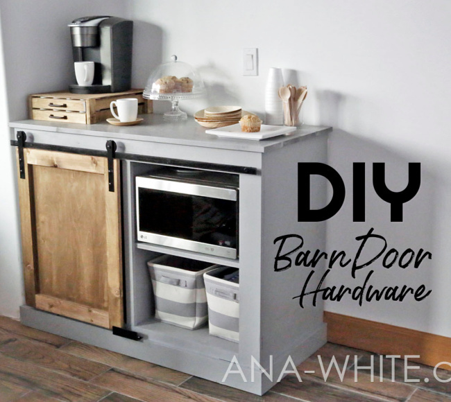 Diy Barn Door Hardware From Washers Ana White