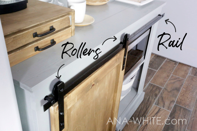 Ana White Diy Barn Door Hardware From Washers Diy Projects